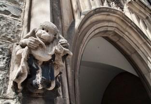 Monkey gargoyle, Hart House, U of T.