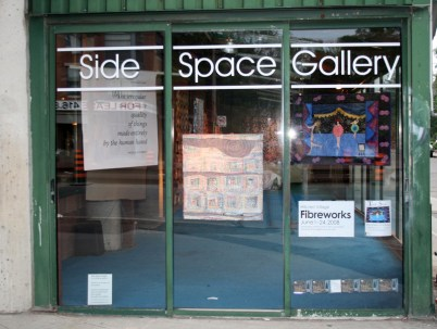 SideSpace Gallery storefront.