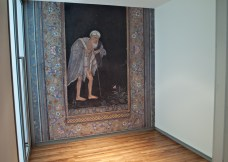 Wall painting of a man.