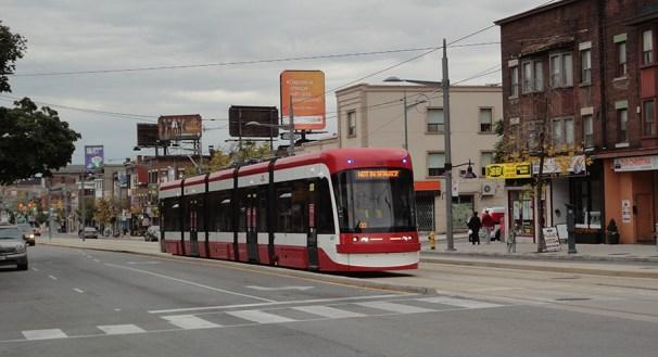 New streetcar on St. Clair.