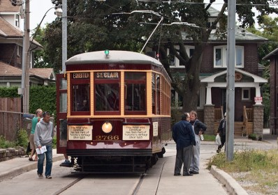 Old streetcar at Robina loop just off St. Clair.