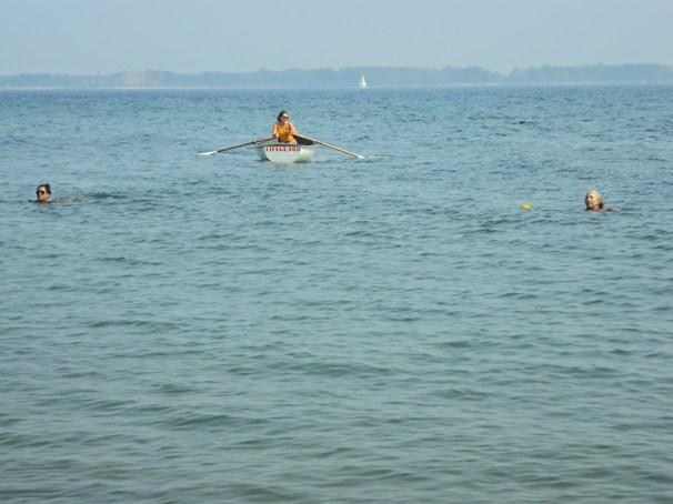 Lifeguard at Centre island.