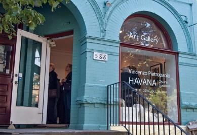 Havana opening, the gallery.