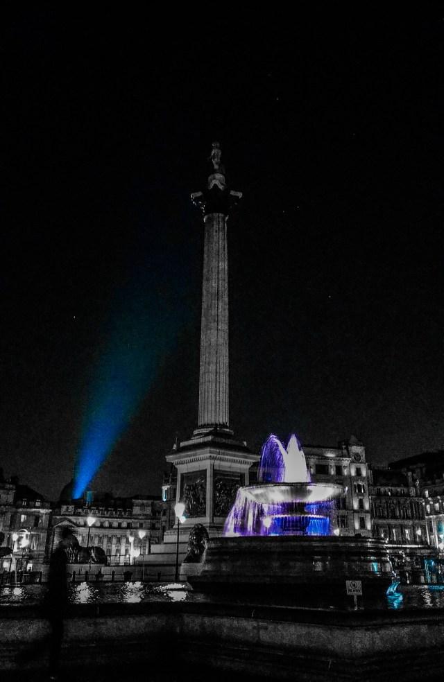 Nelson Column at Trafalger Square in London, UK