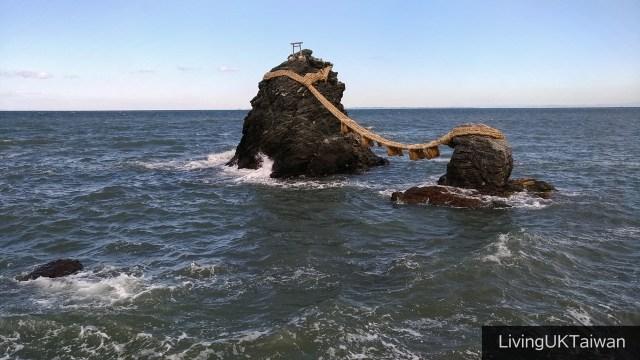 Meoto Iwa rocks in Ise, Japan