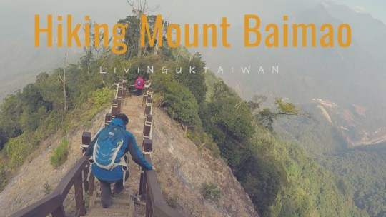 Hiking at Mount Baimao in Taiwan 谷關七雄之白毛山