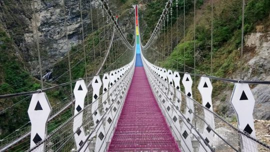 To bridge or not to bridge, Tamazuan in central Taiwan  台灣部落達瑪巒村