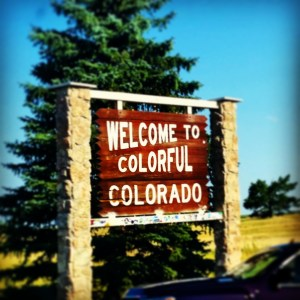 Colorado Welcom Sign
