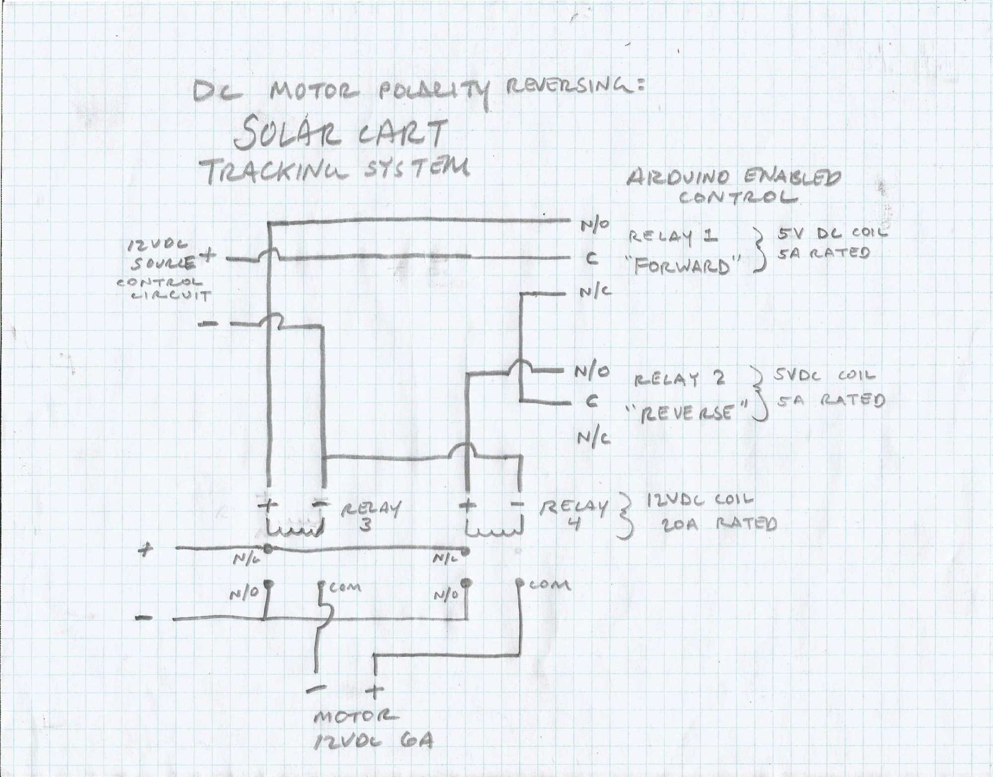 hight resolution of see the circuit diagram and you ll see how a couple of relays both protect the motor and switch motor polarity upon receiving the signal