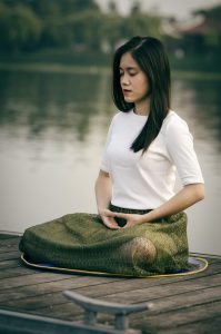 Meditation helps lower blood pressure and handle stress