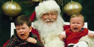 Some children are afraid of Santa Claus.