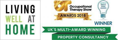 Living Well at Home is a multi-award winning consultancy - this is our banner