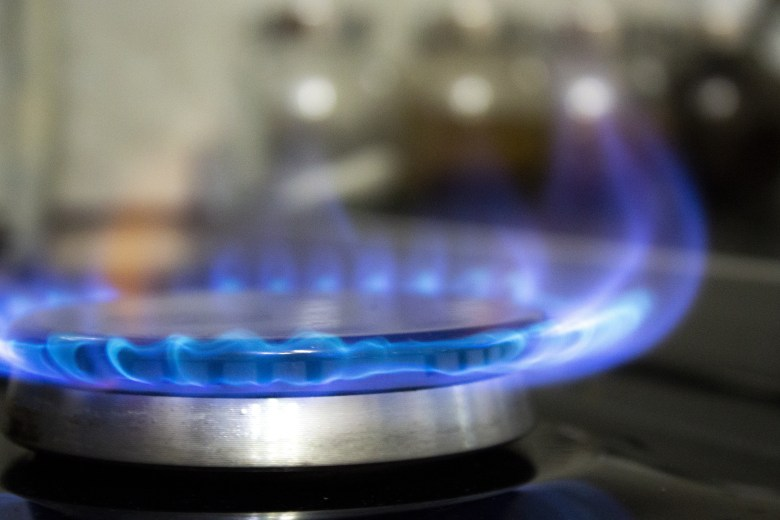 The familiar blue flame of a gas hob. Safety in Later Life is key.