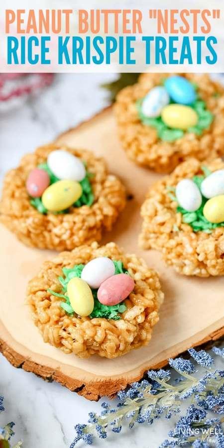 "Easter Rice Krispie Treats ""Nests"" recipe"