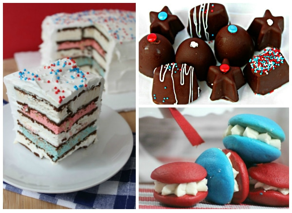 Looking for a festive red, white, and blue recipe? Here's 25 fun patriotic desserts, perfect for the 4th of July and other summer holidays! From parfaits to s'more brownies, whoopie pies and jell-o poke cakes, brownies and classic cupcakes, there's a dessert to please everyone here!