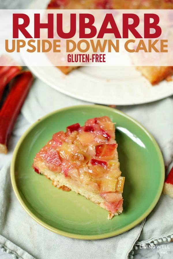 Rhubarb Upside down cake dessert