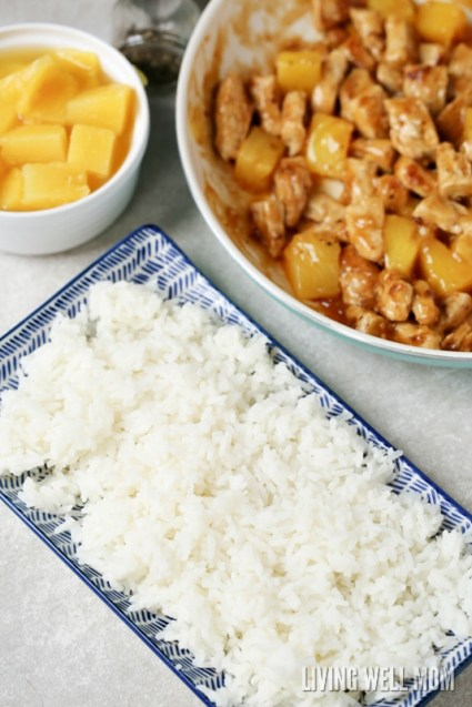 rice and chicken pineapples for dinner recipe
