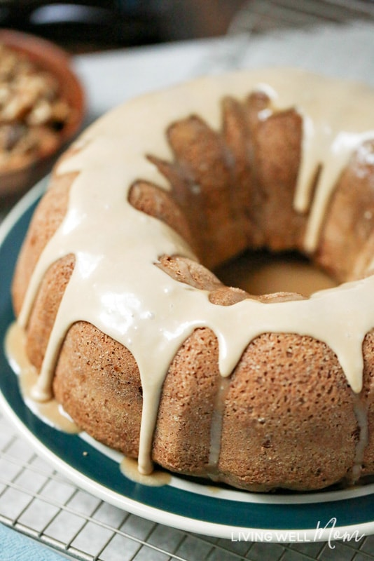 With a perfect blend of cinnamon, apple, and nutmeg, this Caramel Apple Cake is topped with a delightful caramel icing and will quickly become a favorite fall dessert!