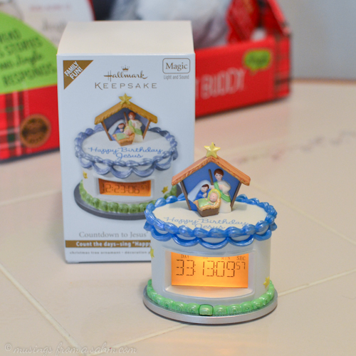 I Love That Hallmark Acknowledges The Real Meaning Of Christmas Our Ornament Is A Birthday Cake Can Be Programmed To Countdown Days Until Jesuss