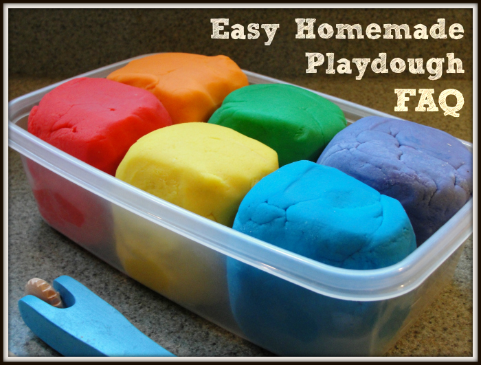 Easy Homemade Playdough FAQ - Living Well Mom