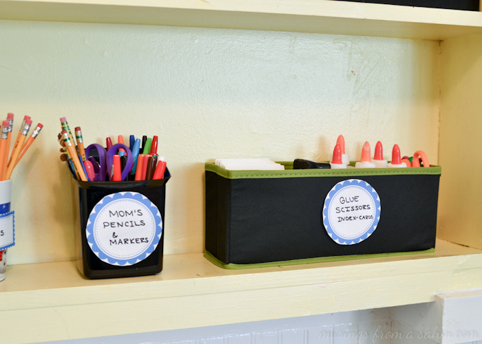 Organize Homeschool Labels