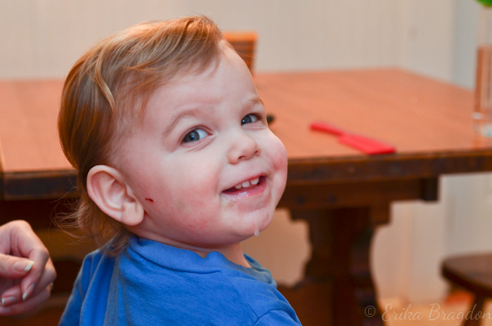 sweet grinning boy