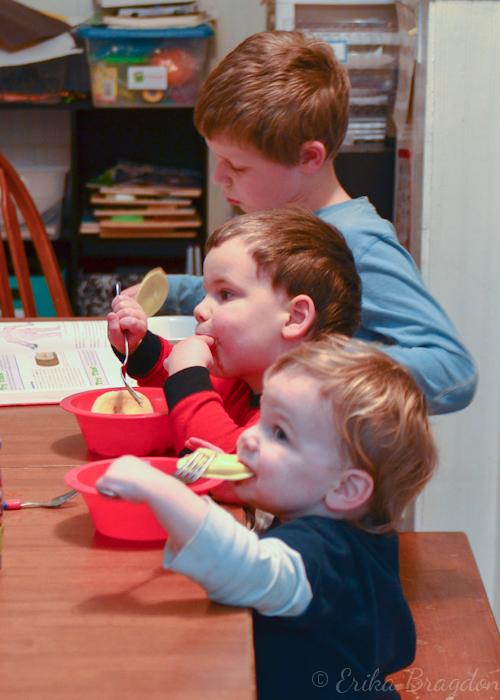 boys eating