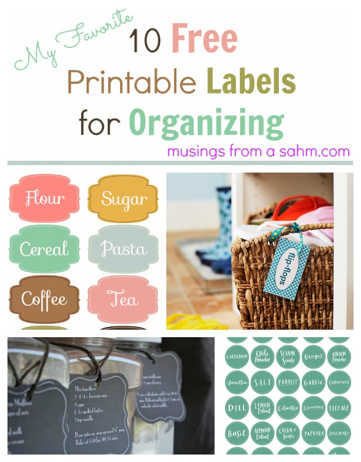 photograph about Free Printable Organizing Labels called 60+ No cost Printable Labels for Arranging Your Household - Residing