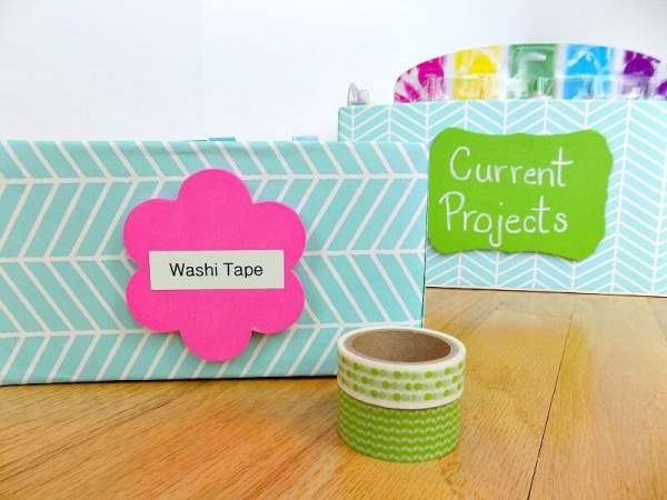 free label ideas with washi tape