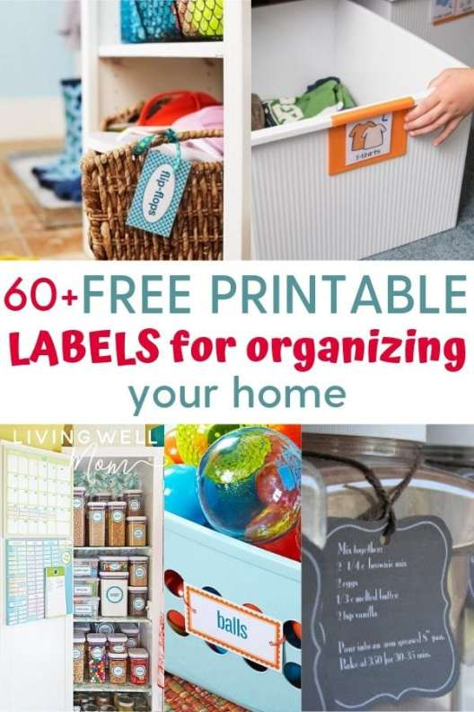 free printable labels for your home