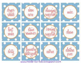 laundry room labels printable