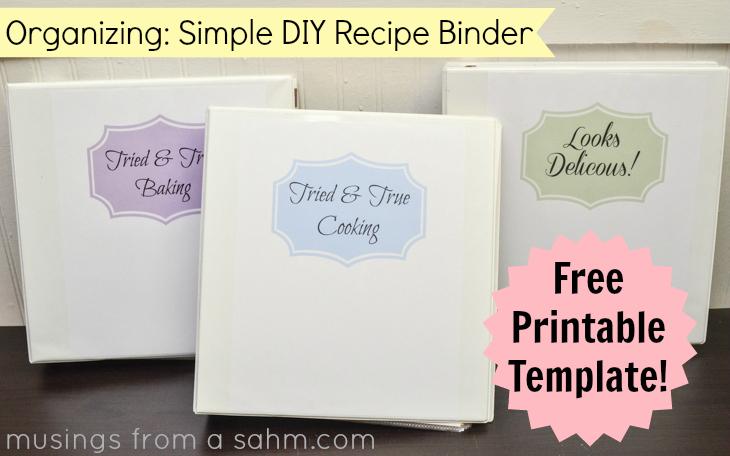 free printable recipe binder