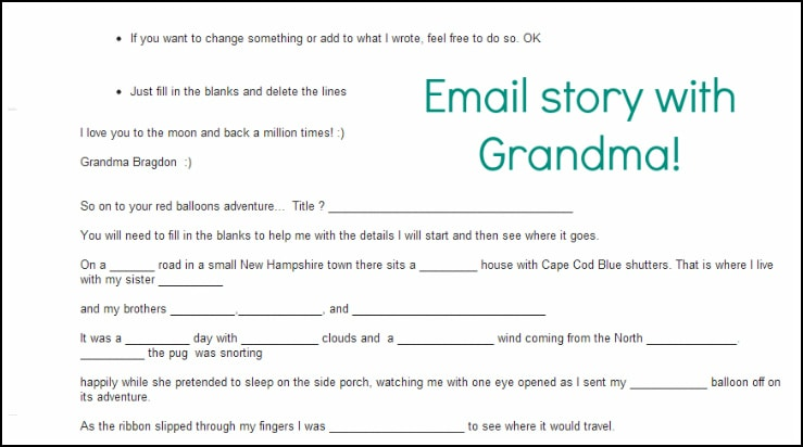 email chain with Grandma