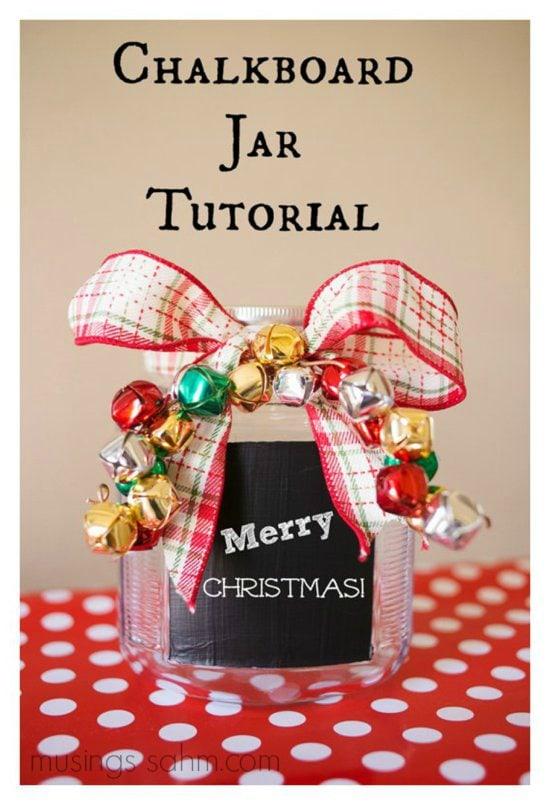 Chalkboard Jar DIY tutorial