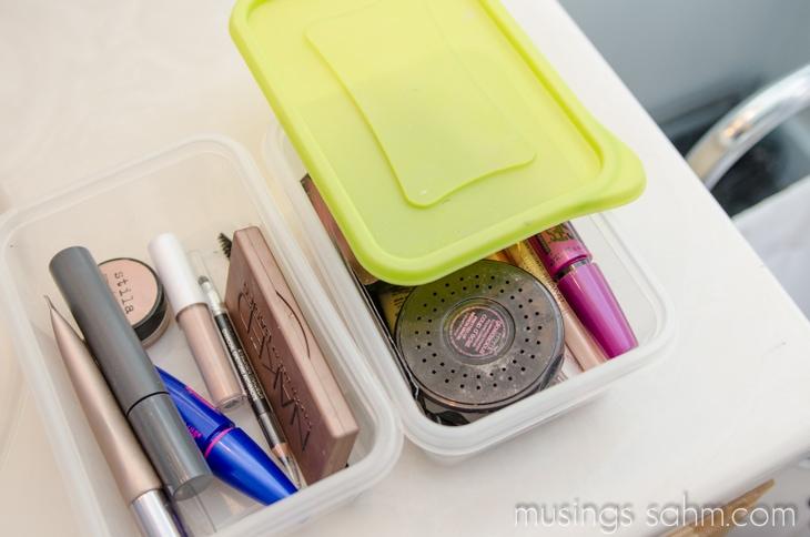 makeup bins