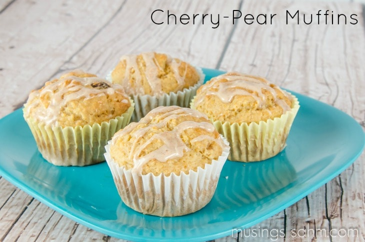Cherry Pear Muffins