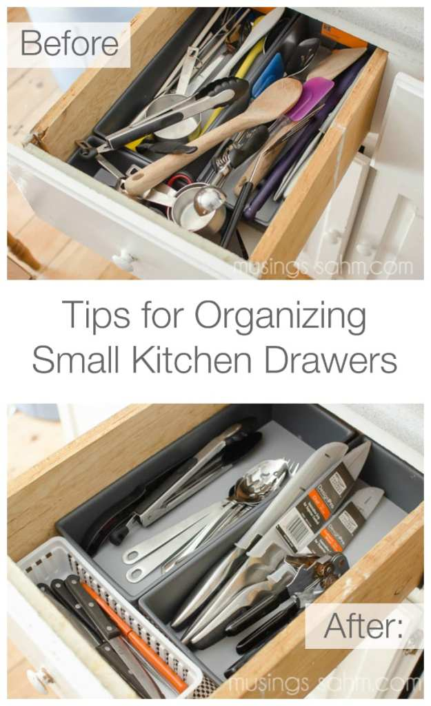 tips for organizing small kitchen drawers - living well mom