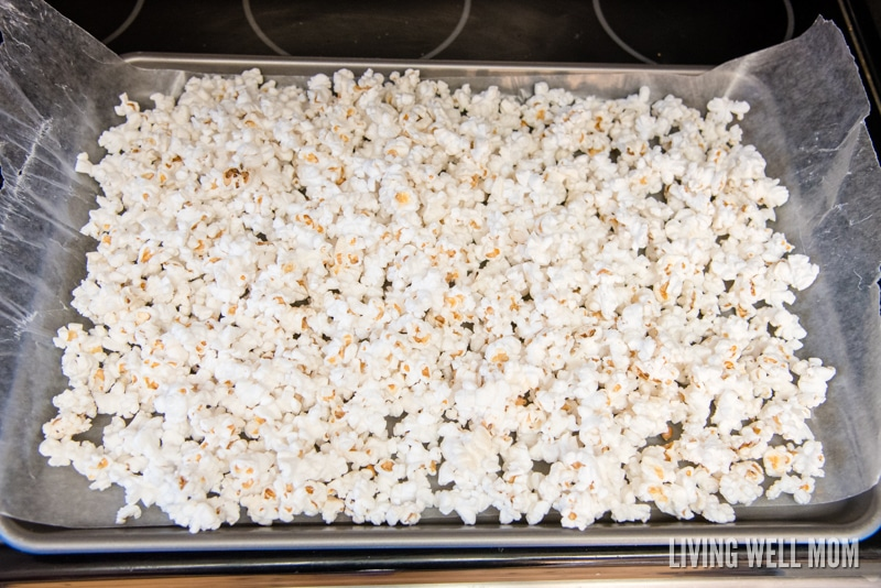 This White Chocolate Popcorn recipe is the perfect sweet-and-salty snack both kids and adults will love. Bonus: it takes just 5 minutes to make!