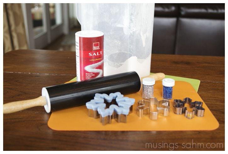 glitter salt dough snowflakes ingredients