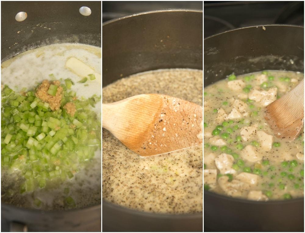 Cooking Chicken n Dumplings Casserole