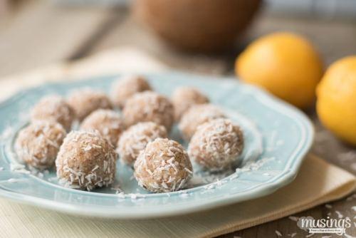 Raw Lemon Coconut Macaroons