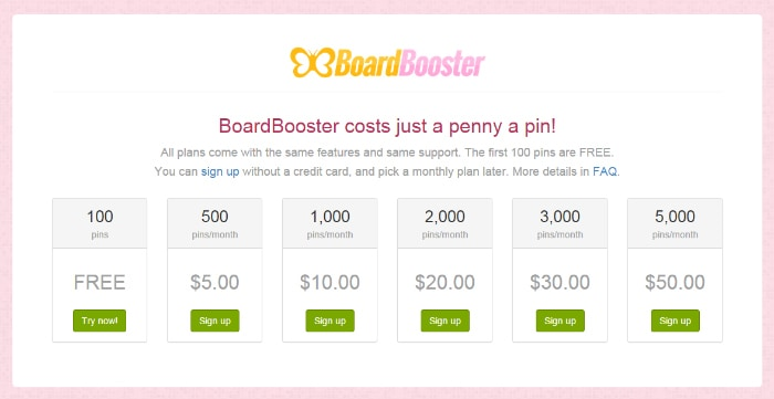 Board Booster pricing