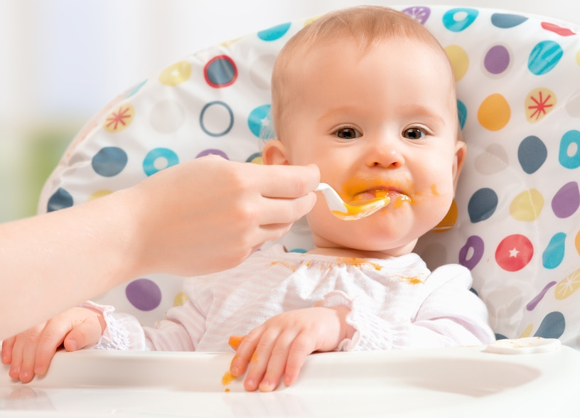 The Truth About Feeding Baby Solids #parenting