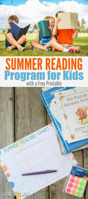 summer reading incentive chart for kids