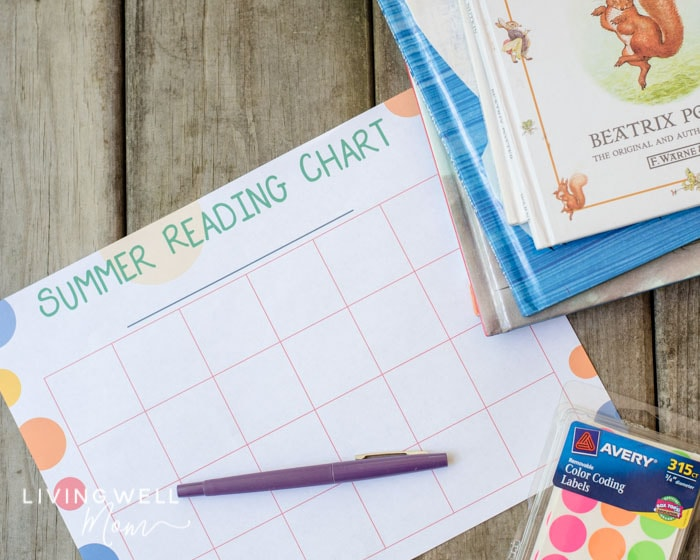 free printable reading challenge chart for kids