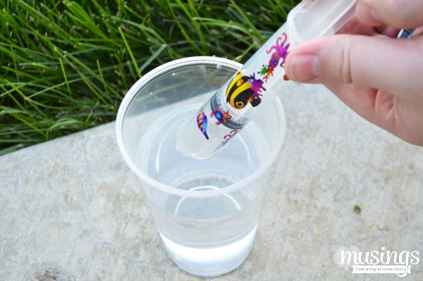 These simple DIY Water Squirters are easy to make & provide hours of fun, plus they are so inexpensive,  you can have at least one for each child!