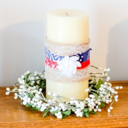 DIY Patriotic Candles are easy to make and versatile since you can change the decorations to other themes. It's a great way to add simple beautiful decoration to your home!