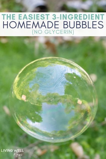 easiest 3-ingredient homemade bubbles without glycerin
