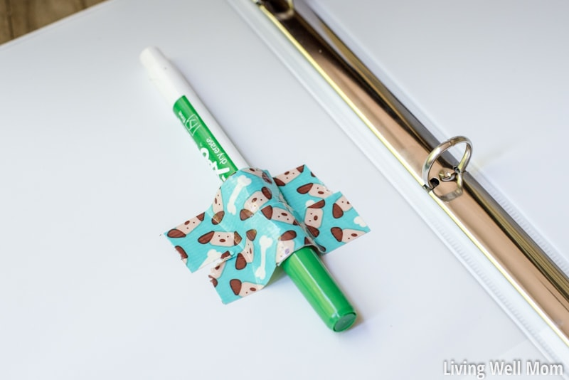 road trip binder with marker