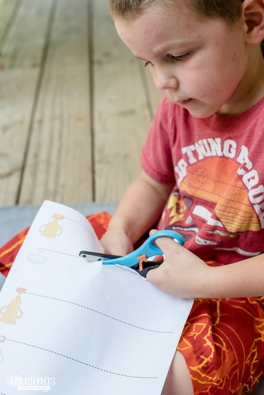 Here's the perfect Scissor Cutting Practice for Preschoolers. Even older kids will enjoy this fun activity as they fine-tune their scissors skills! Grab your Free Printable Activity Packet here: